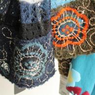 M.&KYOKO レース編みにオーガンジーの刺繍で涼しげなデザインです