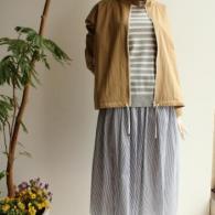 POUSHAL  ブルゾン¥32780(税込み)*ボーダーカットソーとスカートは完売となりました