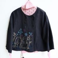 M.&KYOKO リネンワッシャー花刺繍のジャケット¥41800インナー¥11000(税込み)