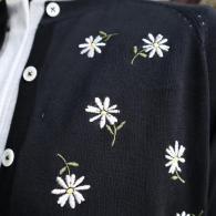 49Av.Junkoshimada 薄手ニットのカーディガンマーガレット刺繍¥39600(9号)