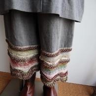 M.&KYOKO 裾に北欧調の網目が美しい
