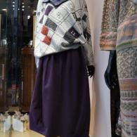 M.&KYOKO セーター¥36300スヌード¥16500スカート¥27500