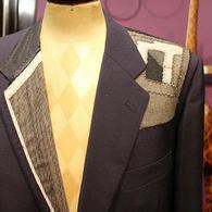 LONNERスーツの縫製見本 五重構造の肩づくり、丁寧なハ刺し等 国内最高峰と名高い技をご覧ください。
