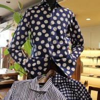 BLUNERRO プリント・サッカー地のシャツ¥15,980(税込)柄違いの三色ハイテンションで入荷です。