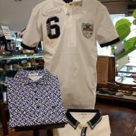 orobianco ポロシャツ¥19,440 mila schon sports ロゴ柄¥17,280 ライン入り¥19,440 全て税込価格