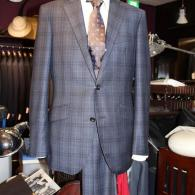 RICHARD JAMESスーツ¥130,000+tax シックなタータンチェックはロロピアーナ、至福の手触り。