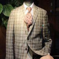RICHRD JAMESジャケット¥69,000+tax 110'Sのしなやかなマルチチェック柄がジェントル。