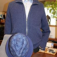 mila schon ニットブルゾン¥76,000+tax カシミアミックスの柔らかな手触り、総裏の温かさ。極上の一着です。