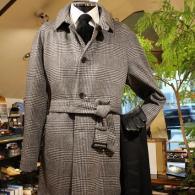 RICHARD JAMESコート¥110,000+tax 毛足の長い上質なウール。グレインプレイド柄がいかにもブリティッシュ。