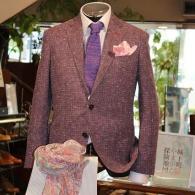 RICHARD JAMES ジャケット¥86,900(税込)オシャレなサマーツィードはイタリー製生地。大人の風格がにじみ出ます。