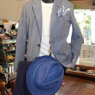 orobiancoジャケット¥42,900(税込)サックスのリンクルクロスは万能。夏まで手放せない一着です。